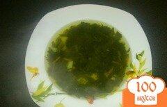 Фото рецепта: «Постный суп со шпинатом и чесноком»