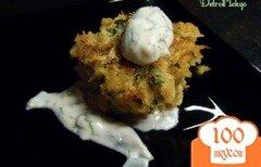 Фото рецепта: «Крабовые лепешки с соусом айоли»