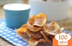 Фото рецепта: «Домашние чипсы с луком и укропом»