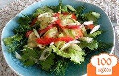 Фото рецепта: «Салат из молодых кабачков»