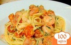 Фото рецепта: «Спагетти с томатами, чили и креветками»