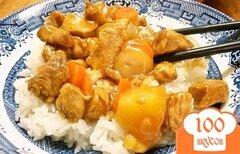 Фото рецепта: «Курица с морковью и ананасом в бальзамическом соусе»