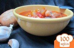 Фото рецепта: «Густой овощной суп с горохом нут»