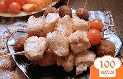 Фото рецепта: «Сочные шашлычки из куриной грудки.»