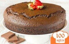 Фото рецепта: «Шоколадный бисквит на кипятке»