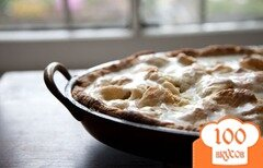Фото рецепта: «Пирог с грушами и яблоками»