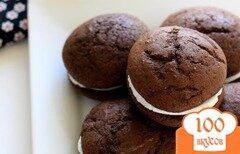 Фото рецепта: «Шоколадное печенье-сэндвичи»