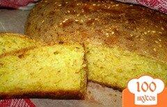 Фото рецепта: «Тыквенный хлеб с отрубями и кунжутом»