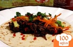 Фото рецепта: «Тако с говядиной по-корейски в мультиварке»
