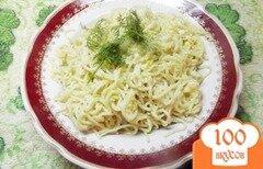 Фото рецепта: «Макароны запеченные с яйцом»