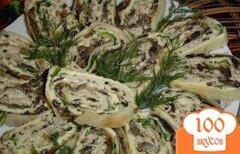 Фото рецепта: «Сырно-грибной рулетик»
