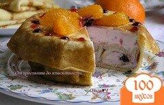 Фото рецепта: «Малиново-черничный блинный торт»