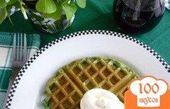 Фото рецепта: «Зеленые вафли»