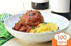 Фото рецепта: «Тыква-спагетти с тефтелями»