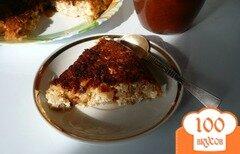 Фото рецепта: «Творожная запеканка с яблоком и овсяными хлопьями»