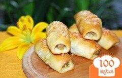 Фото рецепта: «Брабантские хлебцы с домашними колбасками или Brabantse worstenbroodjes»