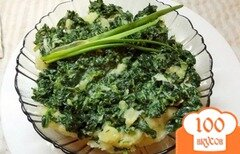Фото рецепта: «Картофель с листовой зеленью»