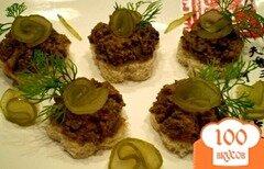 Фото рецепта: «Печеночный паштет с грибами»