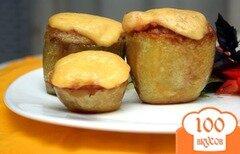 Фото рецепта: «Фаршированный картофель с ветчиной и сыром»