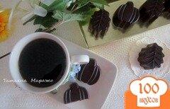 Фото рецепта: «Шоколадные конфеты с лимонным кремом и вишневым конфитюром»