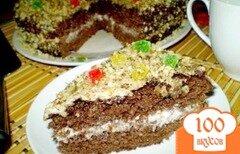 Фото рецепта: «Шоколадный пирог со сметанно-ореховым кремом»