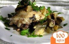 Фото рецепта: «Курица с баклажанами в мультиварке»