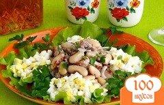 Фото рецепта: «Салат из консервированной сардины»