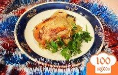 Фото рецепта: «Курица с яблоком, запеченая в рукаве»