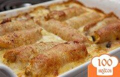 Фото рецепта: «Мясные рулетики с грибной начинкой»