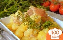 Фото рецепта: «Картошка, тушённая с курочкой. Рецепт с изюминкой.»