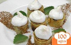 Фото рецепта: «Блинчики с яблоками под безе»