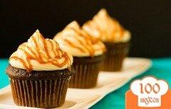 Фото рецепта: «Шоколадные кексы с соленой карамелью»