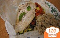 Фото рецепта: «Рыба в пергаменте с овощами»
