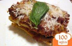 Фото рецепта: «Роллы из лазаньи с мясным соусом»