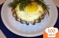 Фото рецепта: «Яйца, запеченые в кокотницах»