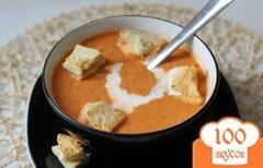 Фото рецепта: «Томатный суп с гренками»