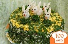 Фото рецепта: «Печёночный торт с грибами»