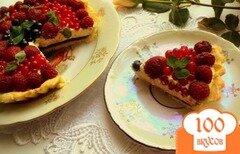 Фото рецепта: «Тарт с заварным кремом «Ягодная поляна»»