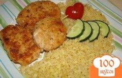 Фото рецепта: «Булгур с рыбными котлетами из семги»