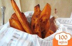 Фото рецепта: «Хрустящий сладкий картофель фри»