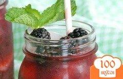 Фото рецепта: «Ежевичный лимонад»