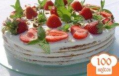 """Фото рецепта: «Торт """"Клубничка на дереве"""" (Baumkuchen)»"""