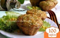 """Фото рецепта: «Маффины с зеленой гречкой """"Здравия желаю!""""»"""
