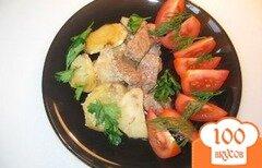 Фото рецепта: «Говядина запеченная с картофелем»
