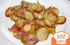 Фото рецепта: «Запеченный молодой картофель с овощами»