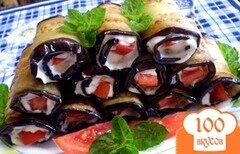 Фото рецепта: «Рулетики из баклажанов»