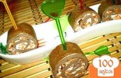 Фото рецепта: «Печеночные рулетики с морковью по-корейски»