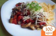 Фото рецепта: «Яичница с грибами и перцем»