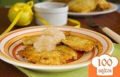 Фото рецепта: «Картофельные оладьи с яблочным муссом»