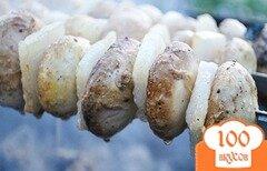 Фото рецепта: «Шашлык из шампиньонов»